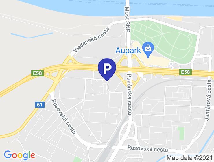 Parkovacie miesto prenájom na začiatku Petržalky