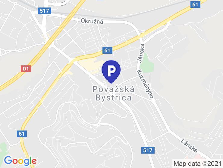 Parkovacie miesto v centre Považskej Bystrice, Diamon Residence