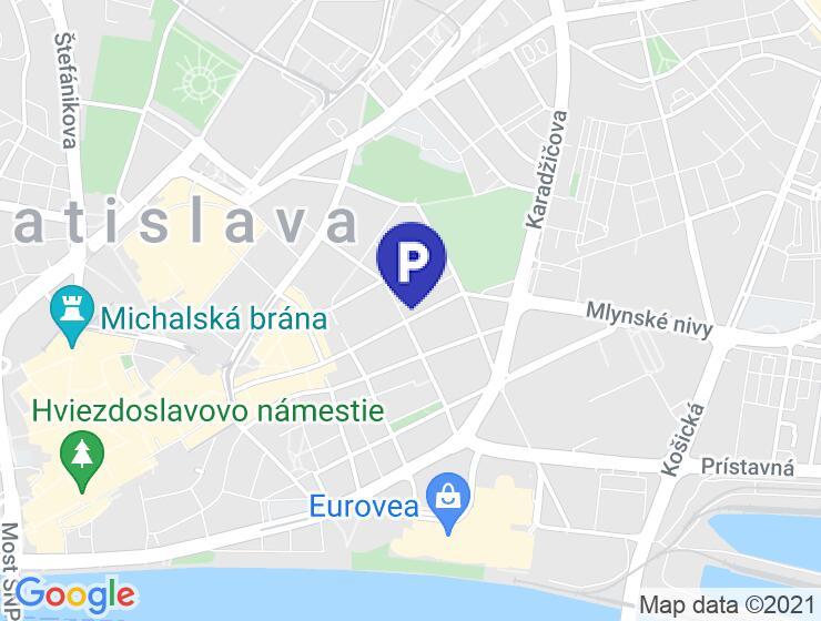 Podzemný parking na Dunajskej v Bratislave